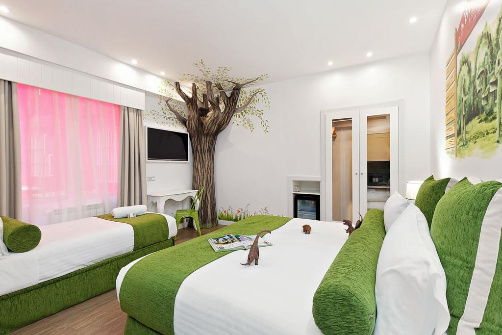 habitacion arbol - Dormir en Madrid con niños